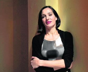 Natalia Millán en la rueda de prensa de 'Cinco horas con Mario' en Sevilla