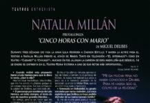 Natalia Millán protagoniza 'Cinco horas con Mario'