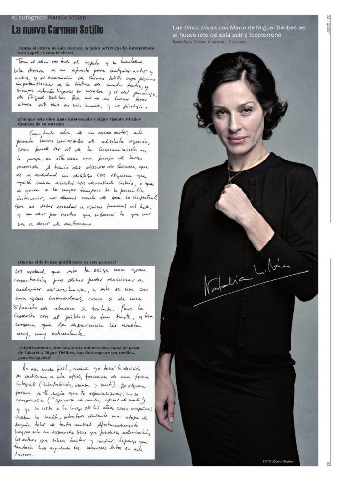 Natalia Millán en la revista Godot